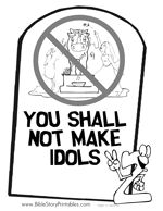 Commandment Page Ten Coloring Sheets | irst Commandment Coloring Page: