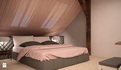 MIESZKANIE NA PODDASZU - Średnia sypialnia małżeńska na poddaszu, styl klasyczny - zdjęcie od TAKE [DESIGN]