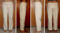 Trouser pattern adjustment for forward tilted hips Part II