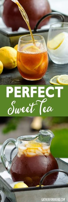 Perfect Sweet Tea - Gather for Bread Perfect Sweet Tea - Family favorite iced tea. How to make homemade sweet tea. This is the BEST sweet tea! Simple ingredients and so EASY! Sweet Tea Recipes, Iced Tea Recipes, Best Iced Tea Recipe, Texas Sweet Tea Recipe, Cocktail Recipes, Refreshing Drinks, Summer Drinks, Homemade Iced Tea, Bon Appetit