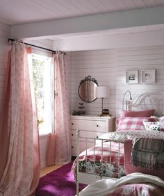 Ikea - love the pink gingham bed sheets