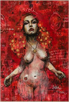Molly Crabapple Katelan Foisy, 2016 mixed media, collage and acrylic on canvas 72 x 48 inches