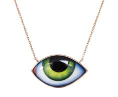 Lito Gold Enamel Green Tu Es Partout Necklace