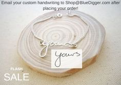 Personalized Handwriting Bracelet - 30% OFF!