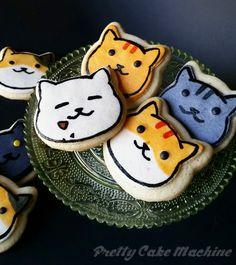 Recipes/Tutorials: Neko Atsume butter cookies!   Pretty Cake Machine