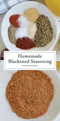 Homemade Spice Blends, Homemade Spices, Homemade Seasonings, Spice Mixes, Blackened Chicken Seasoning, Blackened Chicken Alfredo, Homemade Italian Seasoning, Chicken Spices, Seasoning Mixes