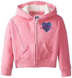 Levi's Little Girls' Rain Dancer Front Zip Knit Hoodie -- You can find more details at