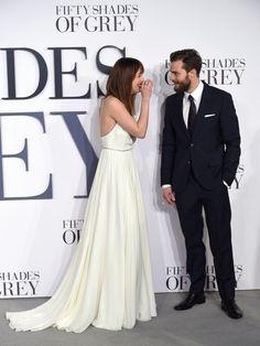 Jamie Dornan and Dakota Johnson at the Fifty Shades of Grey London Premiere