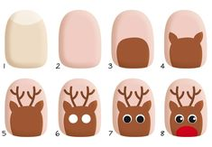 Give fashion to your nails with nail art designs. Worn by fashion-forward celebs, these types of nail designs can incorporate immediate elegance to your wardrobe. Xmas Nail Art, Cute Christmas Nails, Xmas Nails, Christmas Nail Art Designs, Holiday Nails, Christmas Ideas, Nail Art Hacks, Nail Art Diy, Cute Nail Art