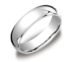 Plain Comfort Fit Wedding Ring In 14k White Gold And Bands