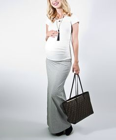 Take a look at this Madeleine Maternity Gray Maternity Convertible Dress on zulily today!
