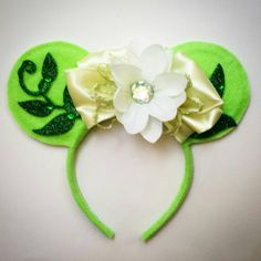 Tiana inspired Mouse ears. by MakeMeMinnie on Etsy