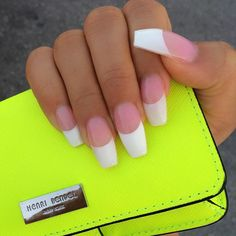 70 ideas for nails acrylic coffin jade - Nail Art Design French Acrylic Nails, French Nails, Gorgeous Nails, Pretty Nails, Nail Design Video, Dope Nails, Sexy Nails, Prom Nails, Nails 2018