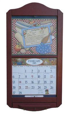 Wall Calendar Frame solid oak calendar holder/frame ~ paid $2.00 | crap i buy at