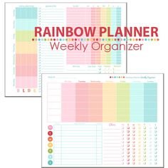 Adorable weekly organizer for your planner ( Filofax, Gillio, Day Timer, Franklin Covey, etc.). Keeps track of everything! It's the perfect weekly planning page.