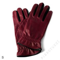 EXTRA LARGE Ladies Italian Leather Gloves, color ox blood $68