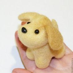 Создаем милую собачку в технике сухого валяния - Ярмарка Мастеров - ручная работа, handmade