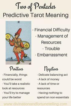 Two of Pentacles: Predictive Tarot Card Meanings — Lisa Boswell Tarot Card Spreads, Tarot Cards, Stampin Up Karten, Save The Date Karten, Tarot Astrology, Love Tarot, Tarot Card Meanings, Tarot Readers, Pentacle