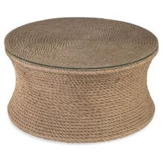 Check out this item at One Kings Lane! Edie Woven Rope Coffee Table, Natural