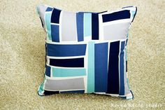 Pillow Pillow Cover Cushion Cover 16x16 20x20 Darned by KoreaBacol