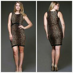 Leopard Print Tank Dress Plus Size Sexy animal print tank mini dress Dresses Mini