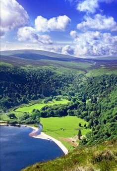 Wicklow Mountains south of Dublin city in Ireland. >>> so beautiful