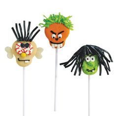 Spooky Cookie Pops....♥ More