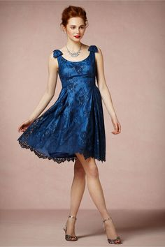 Blue Hour Dress from BHLDN 80$ ... reviews say it's more a cornflower blue than cobalt.