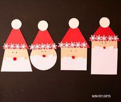 Shape Santa craft made with paper Christmas Math, Christmas Nativity Scene, Preschool Christmas, Christmas Decorations For Kids, Christmas Activities For Kids, Fun Activities, Santa Crafts, Holiday Crafts, Kindergarten Crafts