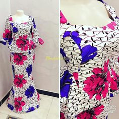 Ankara Skirt And Blouse, African Maxi Dresses, African Clothes, Ankara Tops, Ankara Styles, African Print Fashion, African Prints, Dress Styles, Blouse Styles