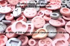 Grande offerta 200 stampi usati e con qualche imperfezione ma buoni da utilizzare-stampi fimo-stampi gioielli-stampi silicone-stampo-fimo di PetitMiniatures su Etsy