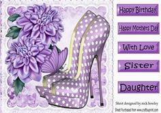 Pretty purple polkadot shoes with chrysanthemums 8x8 on Craftsuprint - View Now!