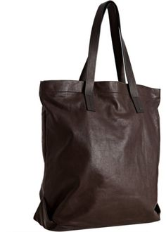 Lanvin Brown Leather Tote Bag in Brown for Men - Lyst