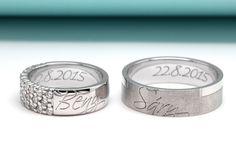 Chcete, aby byly Vaše snubní prstýnky jedinečné? Zvolte rytinu z vlastnoručního podpisu či vlastního fontu písma.  #wedding #rings #golden #engraving #rydl #snubni #prsteny #zlato #rytina