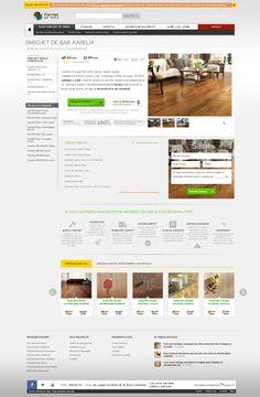 Parchet pe viata - Product page design