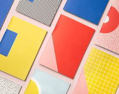 "Write Sketch & | Super! Pocket Notebooks by Officemilano ""Here you find 4 sets composed by two A6 notebooks complementary to one another: one is coloured and the other one is characterized by a geometric pattern. The front of the first one matches..."