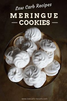 Sugar-free Low Carb Keto and all of the best Meringue Cookies Recipe is here for all upcoming events be it Christmas Birthdays Easter Halloween you name it. Sugar Free Meringue Cookies Recipe, Keto Cookies, Yummy Cookies, Low Carb Desserts, Low Carb Recipes, Atkins Desserts, Paleo Recipes, Sweet Recipes, Cookie Recipes
