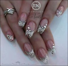 Beautiful nails;especially for the bride