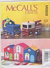 McCall's Sewing Pattern M6806 Toy Storage Train House Fire Engine New UNCUT - http://sewingpins.net/sewing/sewing-storage/mccalls-sewing-pattern-m6806-toy-storage-train-house-fire-engine-new-uncut/