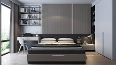 Interior Living Room Design Trends for 2019 - Interior Design Bedroom Bed Design, Modern Bedroom Design, Home Decor Bedroom, Decor Interior Design, Small Room Design, Suites, Luxurious Bedrooms, Design Case, Decoration