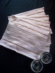 PRODUCT:  Set your good china on these  place mats for elegant dinning.  These place mats can be woven in colors to match or complement the colors in your china.  I usually weave these in diamond or overshot patterns.