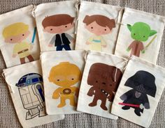 Adorable Star Wars Favor Bags by SweetLilysConfection on Etsy, $18.00