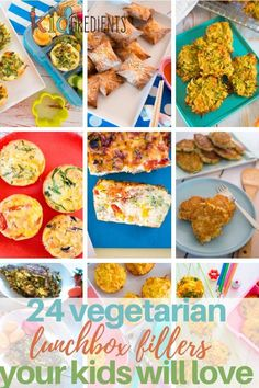 Make lunchtime the time of day for eating veggies, with 24 savoury lunchbox fillers kids will love! #kidgredients #kidsfood #lunchbox #vegetarian #veggies #lunch #lunchboxrecipes