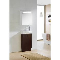 Images Photos Fresca Pulito single Inch Black Modern Wall Mount Bathroom Vanity Set Miscellaneous Pinterest Wall mount Modern bathrooms and Bathroom
