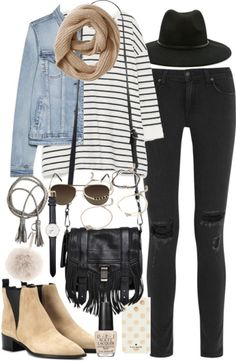 Outfit for a college tour by ferned featuring black ripped jeans Zara  kimono shirt 967f0314053b