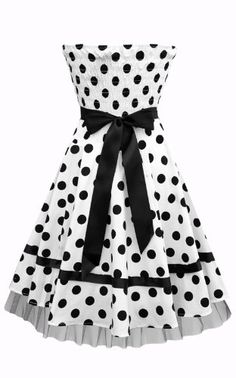 Buy New: £30.00 [UK & Ireland Only] Black Butterfly Polkadot Pin-Up Rockabilly Prom Swing Dress