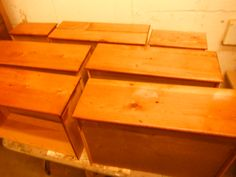 All drawers were stripped and sanded, made square and bottoms re-atached