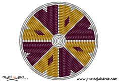 Proste jak drut: Jak zacząć dno Mochila Bag? - kurs tapestry crochet Crochet Circle Pattern, Tapestry Crochet Patterns, Crotchet Patterns, Crochet Circles, Circular Pattern, Boho Tapestry, Tapestry Bag, Mochila Crochet, Crochet Backpack