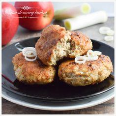 Kotlety mielone z jabłkiem i porem