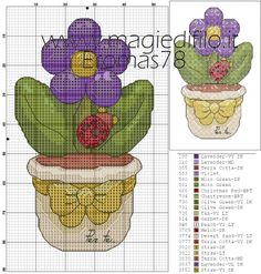 Cross Stitch Embroidery, Cross Stitch Patterns, Flowers In Jars, Cross Stitch Flowers, Blackwork, Diy And Crafts, Projects To Try, Floral, Handmade